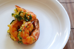 Aarti Paarty, Turmeric-Rubbed Shrimp