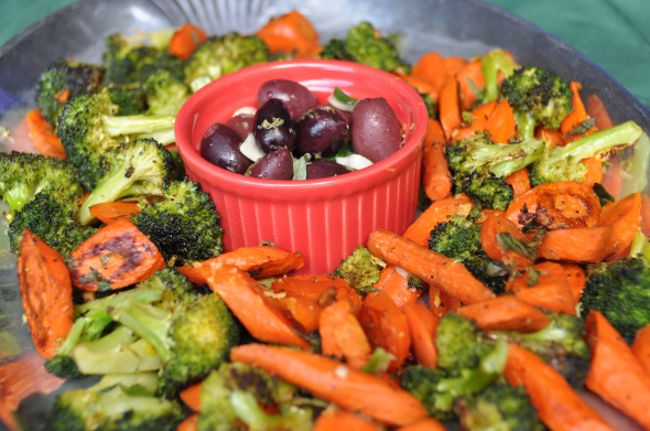 Holiday Appetizer: Roasted Broccoli & Carrots and Herb Marinated ...