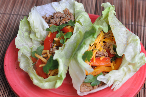 Turkey Lettuce Wrap Taco's Recipe — Dishmaps
