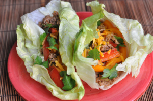 Turkey Lettuce Wrap Tacos