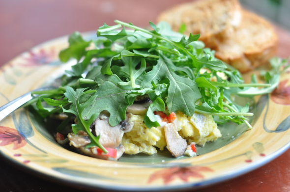 Eggs with Arugula -0540