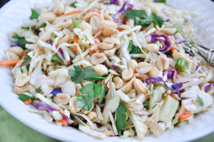 Asian Slaw With Peanuts