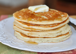 Coconut Buttermilk Pancakes and Meal Planning Monday