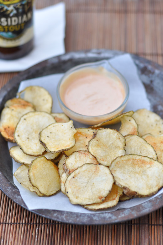 Homemade Potato Chips with Dipping Sauce - Nutritious Eats