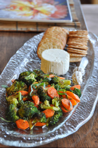 Roasted Vegetables and Cheese Tray Appetizer & Meal Planning