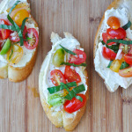 Crostini with Whipped Feta and Tomatoes | www.nutriitouseats.com
