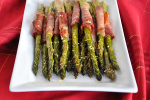 Prosciutto Wrapped Asparagus & Meal Planning