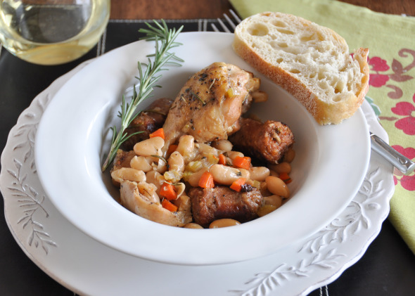 Braised Chicken with Sausage & Beans
