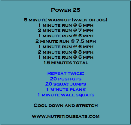 Power 25 Workout From Nutritious Eats