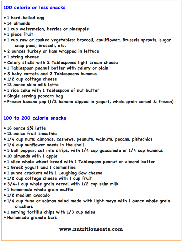 100 to 200 Calorie Snack Ideas