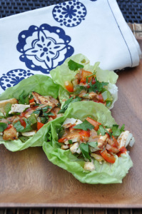 Tofu Lettuce Wraps with Peanut Sauce & Meal Planning