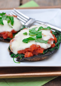 Spinach-Stuffed Portobello Mushrooms & Meal Planning