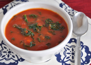 Tomato Kale Soup and Meal Planning