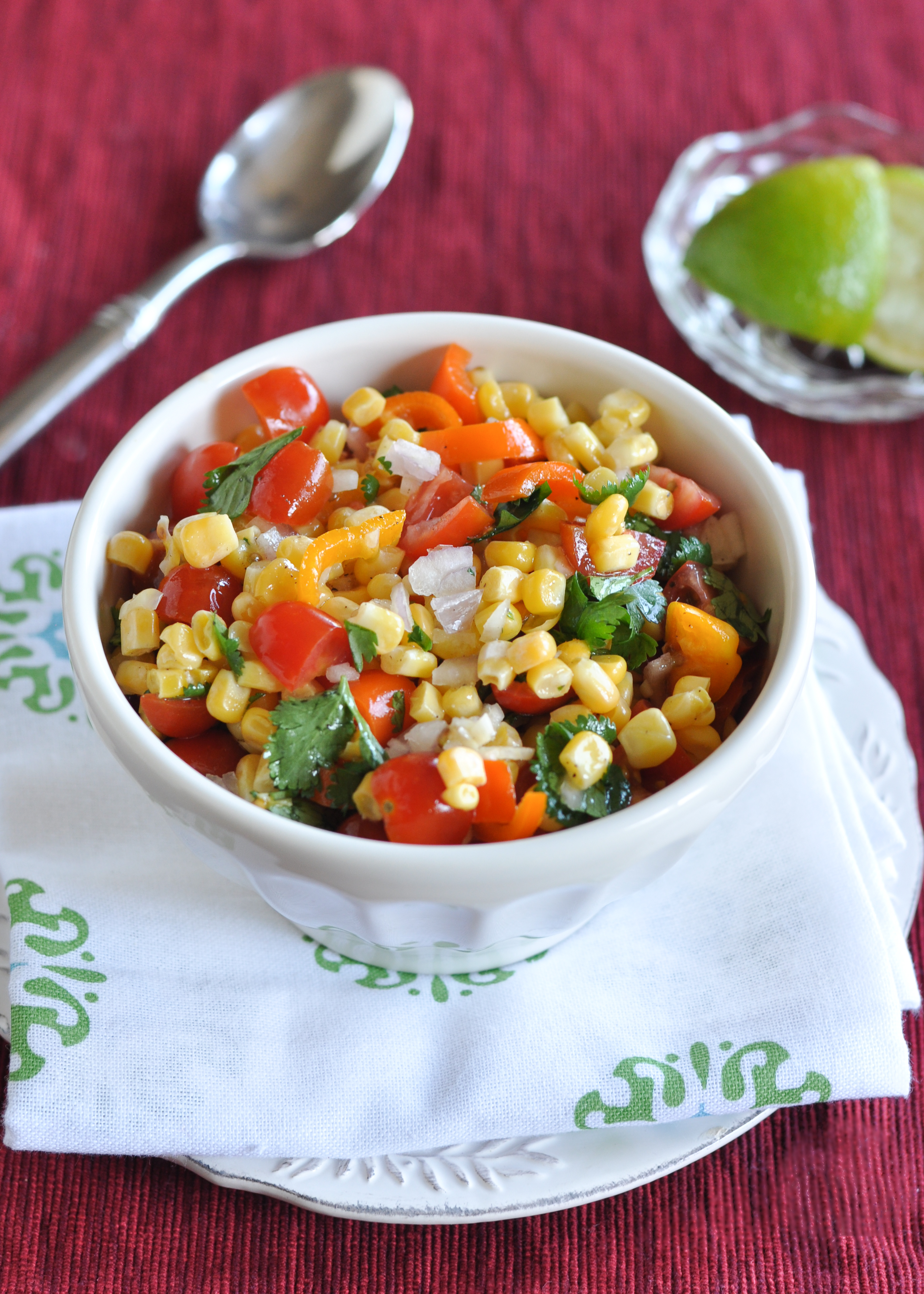 Corn and Tomato Salad | www.nutritiouseats.com