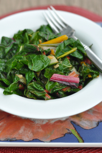 Lemon & Garlic Rainbow Swiss Chard
