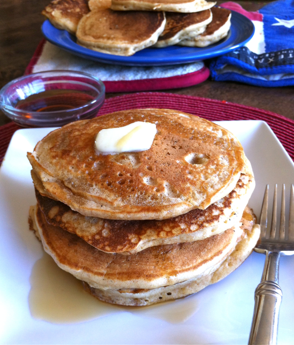Whole Wheat Buttermilk Pancakes | www.nutritiouseats.com