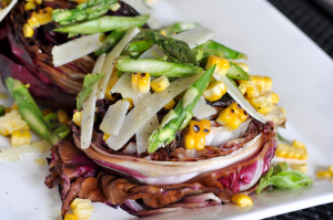 Grilled Radicchio Salad with Lemon Vinaigrette