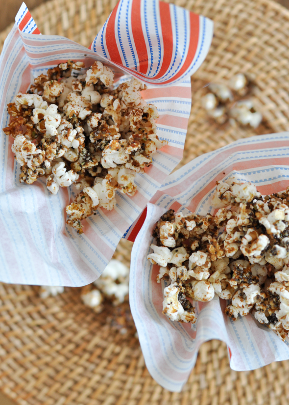 Caramelized Popcorn with Hemp & Chia Seeds
