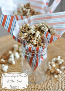 Caramelized Hemp and Chia Seed Popcorn
