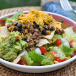 Slow Cooker Turkey Taco Meat - meat in the slow cooker makes the best taco salad| www.nutritiouseats.com