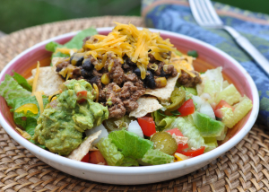 Slow Cooker Turkey Taco Meat + Taco Salad