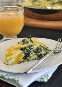 Kale and Butternut Squash Frittata {Meatless Monday}