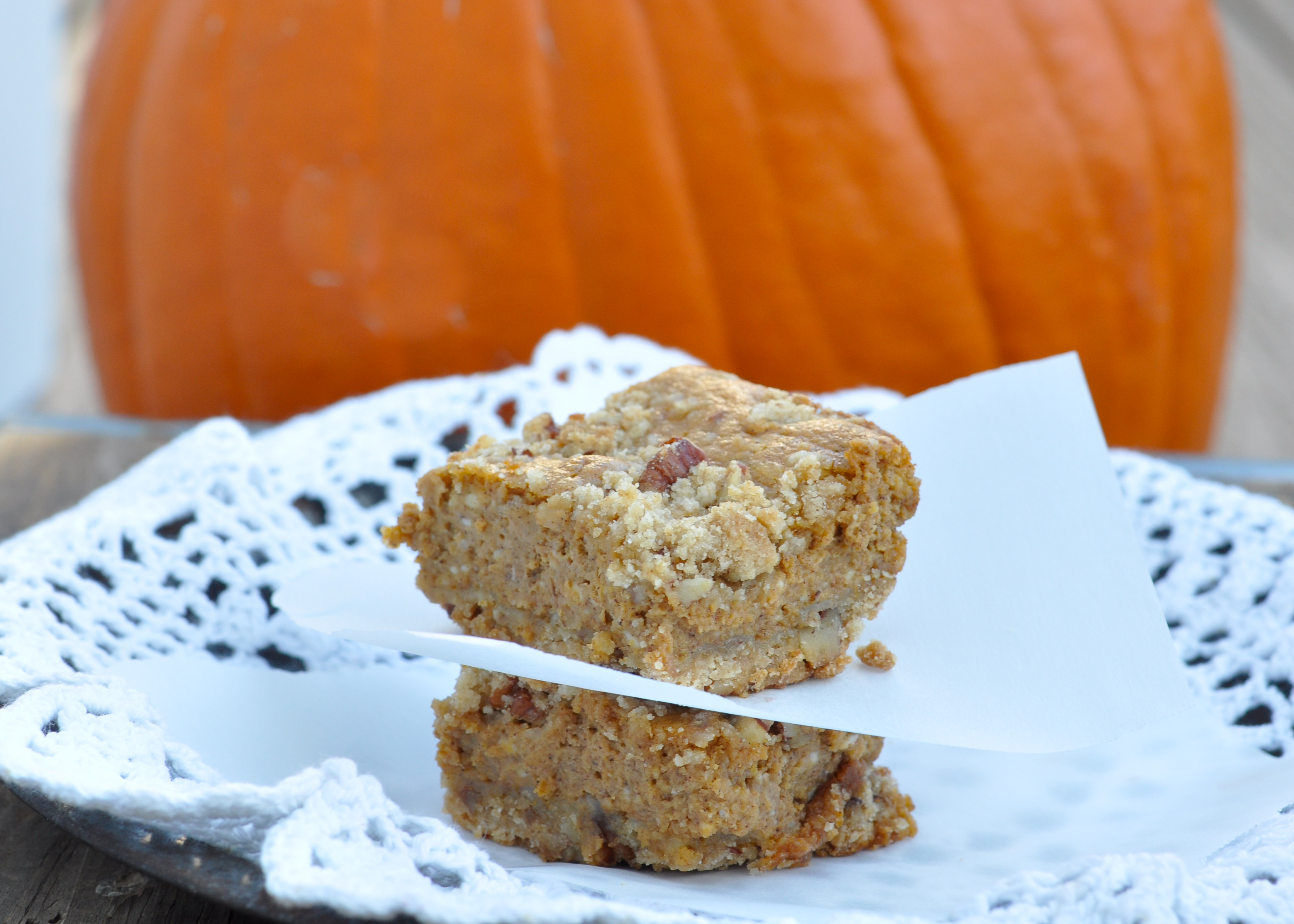 Pumpkin Cheesecake Bars-6 - Nutritious Eats