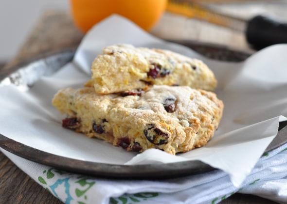Cranberry Orange Scones | www.nutritiouseats.com