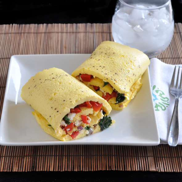 An Interesting Study & Swiss Chard and Feta Rolled Omelet