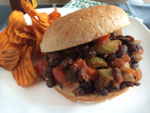 Black Bean Sloppy Joes {Vegan}