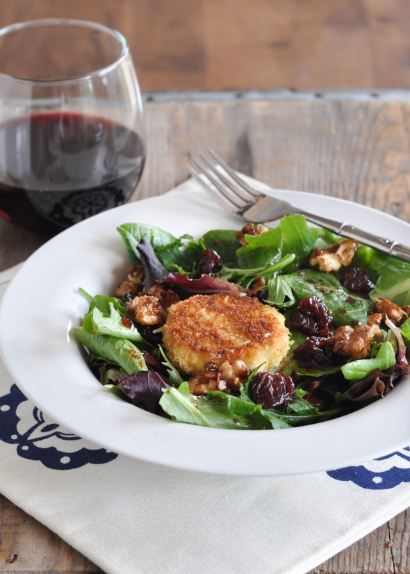 Cherry, Goat Cheese & Candied Walnut Salad + Cherry Balsamic Vinaigrette #gotart