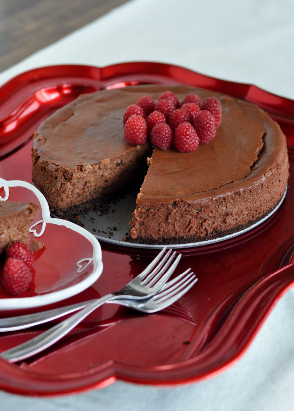 Double Chocolate Cheesecake | www.nutritiouseats.com #clevergirls