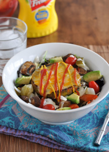 Veggie Burger Salad & Tips For Eating More Vegetables