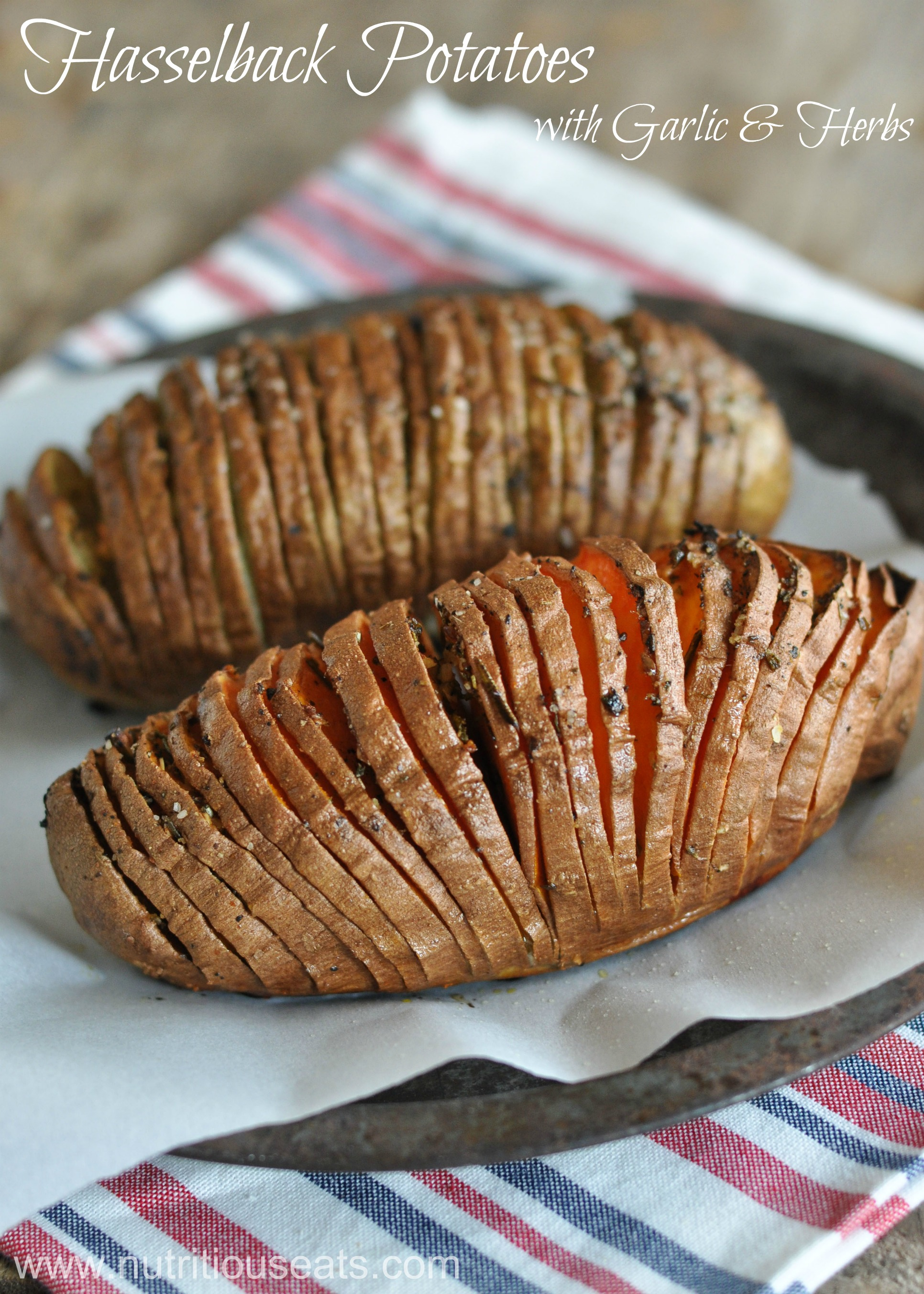 Hasselback Potatoes | www.nutritiouseats.com