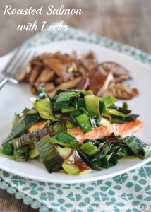 Roasted Salmon with Leeks