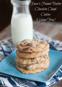 Reese's Peanut Butter Chocolate Chunk Cookies {Gluten Free}
