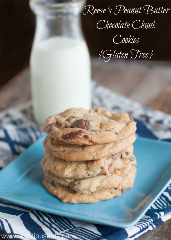 Reese's Peanut Butter Chocolate Chunk Cookies | www.nutritiouseats.com