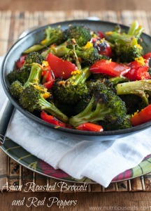 Asian Roasted Broccoli & Red Peppers