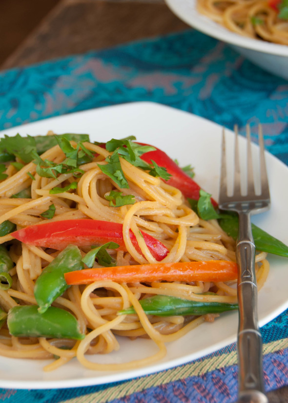 Asian Noodle Salad With A Peanut Dressing