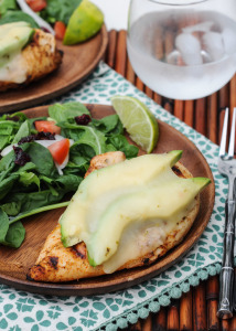Grilled Chicken Avocado Melts