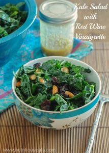 Kale Salad with Red Wine Vinaigrette & Meal Planning