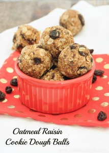 Oatmeal Raisin Cookie Dough Balls {Vegan, Gluten-Free}