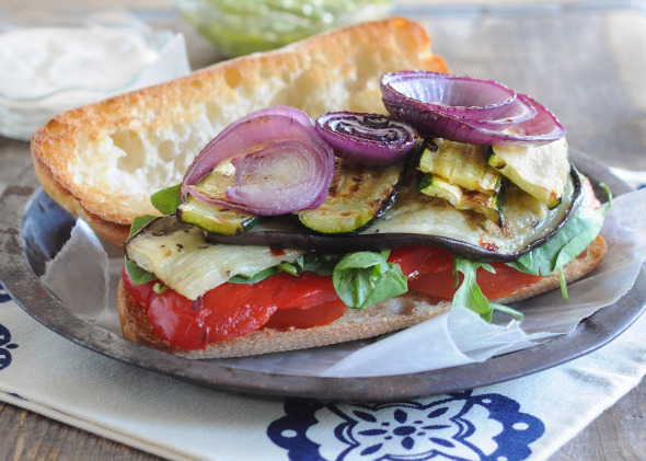 Grilled Vegetable Sandwich   www.nutritiouseats.com