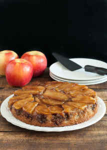 Ambrosia Apple Upside-Down Cake {Gluten Free}