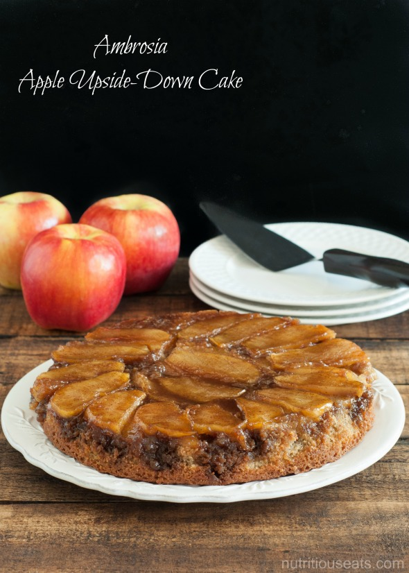 Ambrosia Apple Upside-Down Cake | www.nutritiouseats.com