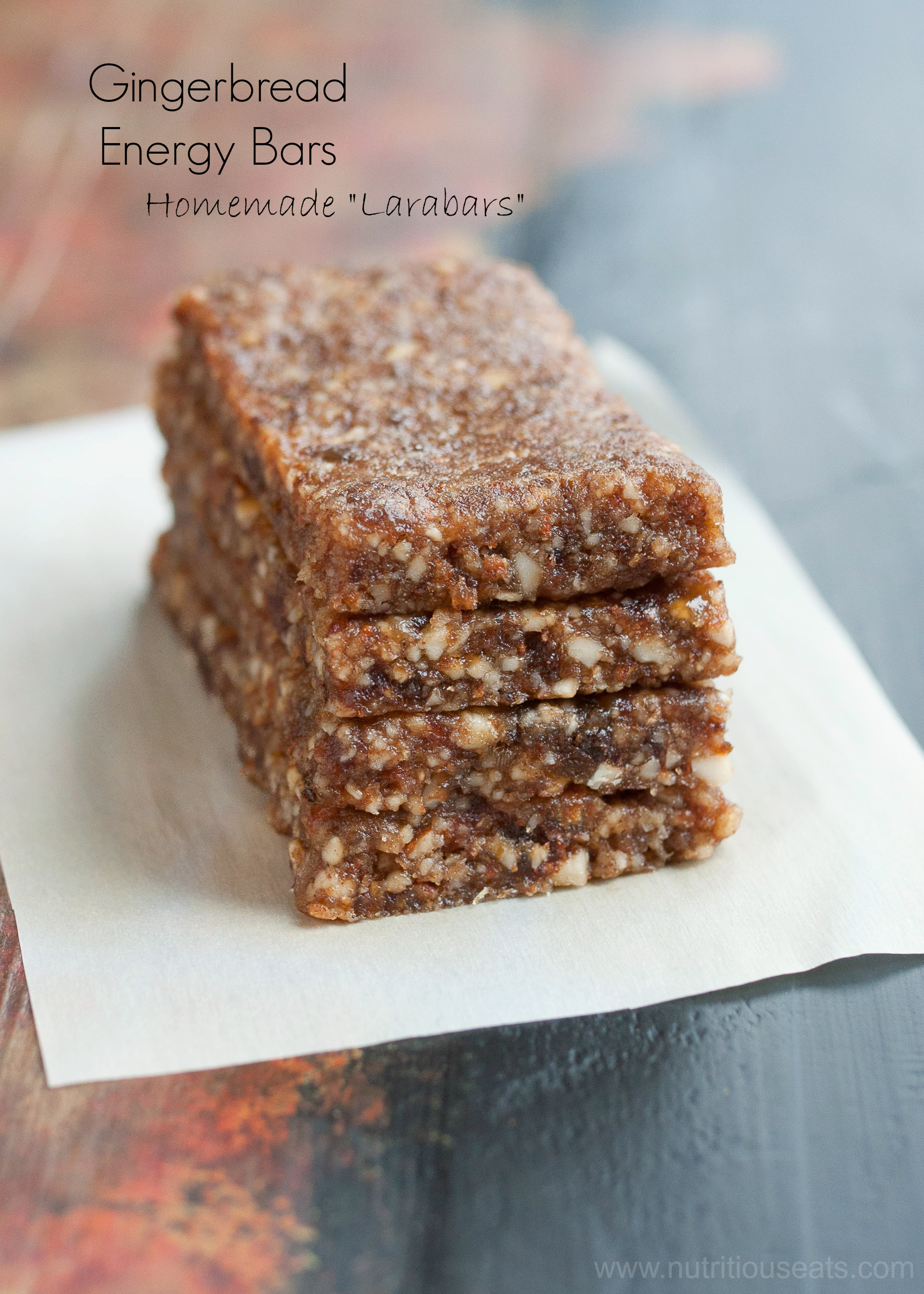 Gingerbread Energy Bars {Vegan, Raw