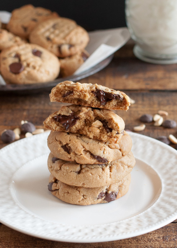 Peanut Butter Chocolate Chip Cookie {Splurge-worth} | www.nutritiouseats.com