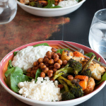 Smoky Roasted Chickpea and Vegetable Salad With Tzatziki Dressing #glutenfree | www.nutritiouseats.com