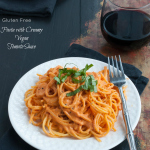 Pasta with Creamy Vegan Tomato Sauce | www.nutritiouseats.com