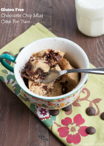 Gluten Free Chocolate Chip Mug Cake for Two